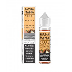 Flacon E Liquide Prêt à Booster Peach Papaya Coconut Cream de Pachamama par Charlie's Chalk Dust